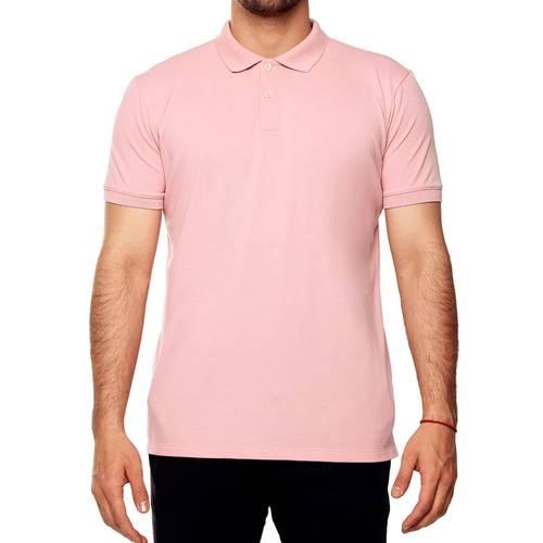 Polo Color Siete Para Hombre  - Rosado