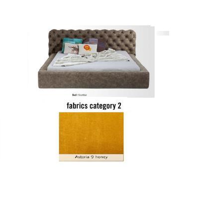 Cama Slumber,  tela 2 - Astoria 9 honey,   (87x208x239cms), 160x200cm (no incluye colchón)