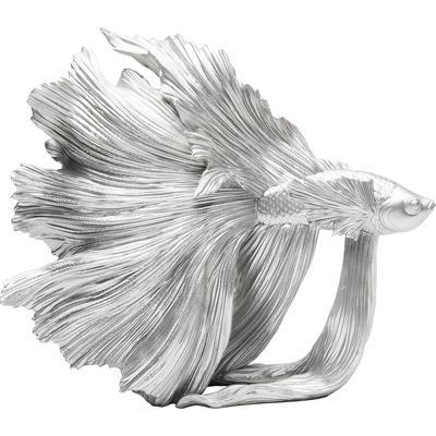 Objeto decorativo Betta Fish plata peq.