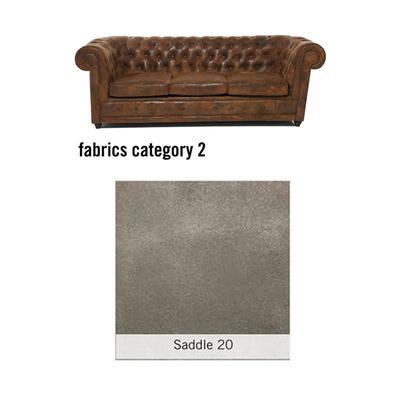SOFA OXFORD 20515 3-SEATER - FABRIC 2, SADDLE20