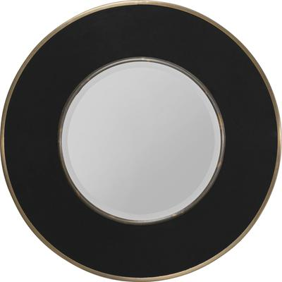 Espejo Lens negro Ø60