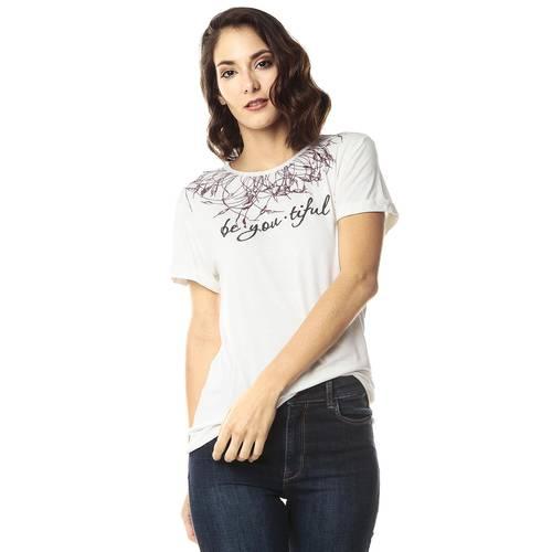 Camiseta Estampada Color Siete para Mujer-Blanco