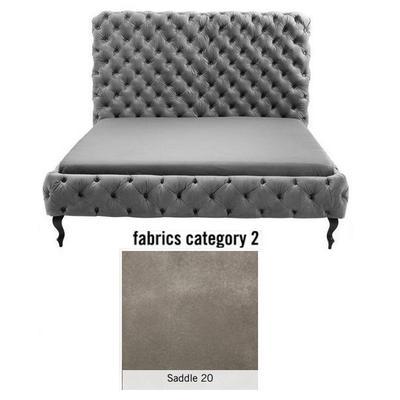 Cama (Alta) Desire, tela 2 - Saddle 20, (138x177x228cms), 160x200cm (no incluye colchón)