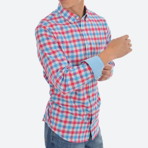 Camisa Ml Cuadros Bd Fc Bright Rose / Malibu 21-0 - Tommy Hilfiger