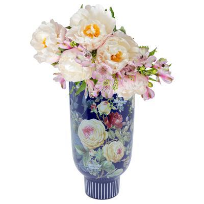 Vasija deco Rose Magic azul 27cm