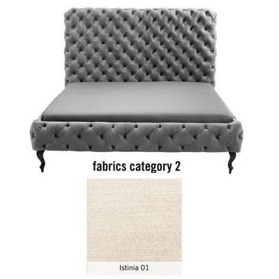 Cama (Alta) Desire, tela 2 - Istinia 01, (135x197x228cms), 180x200cm (no incluye colchón)