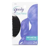 Goody 29 elasticos negros que no maltratan el cabello