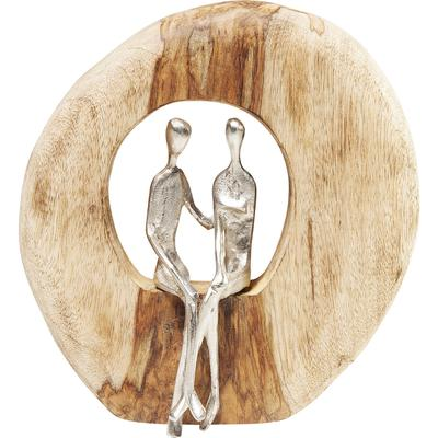 Objeto decorativo Couple In Log