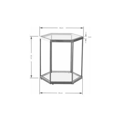 Mesa auxiliar Comb negro 55cm
