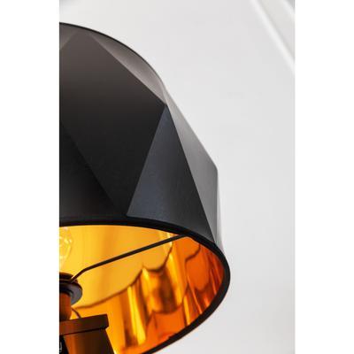 Lámpara pie Triangle Tripod mate negro