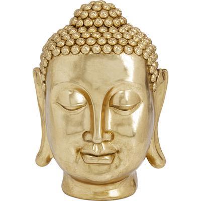 Cabeza decorativa Asia oro 83cm