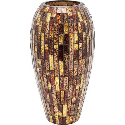 Vasija Mosaico marrón 40