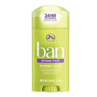 Ban Invisible Solid Antiperspirant Deodorant Shower Fresh 73 Gr