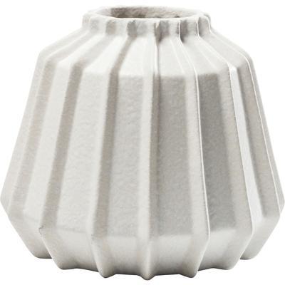 Vasija decorativa Groove blanco