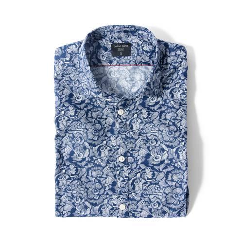 Camisa Leroy Color Siete Para Hombre  - Azul