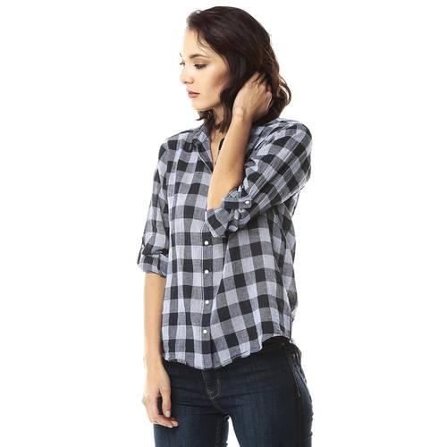 Camisa para Mujer Manga Larga Color Siete-Azul