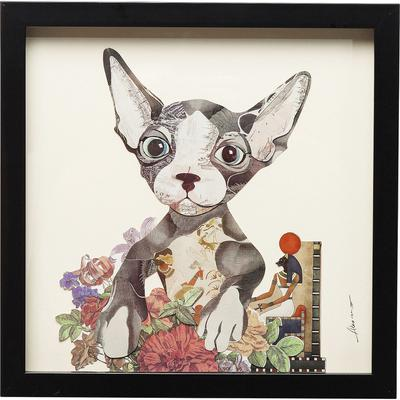 Cuadro Art Flower Cat 41x41cm