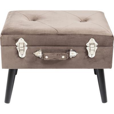 Escabel Suitcase gris