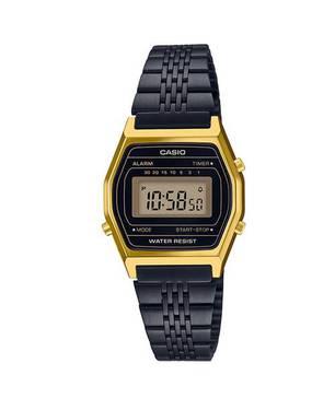 Reloj retro digital negro B-1D