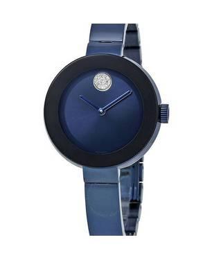 Reloj análogo azul 0425