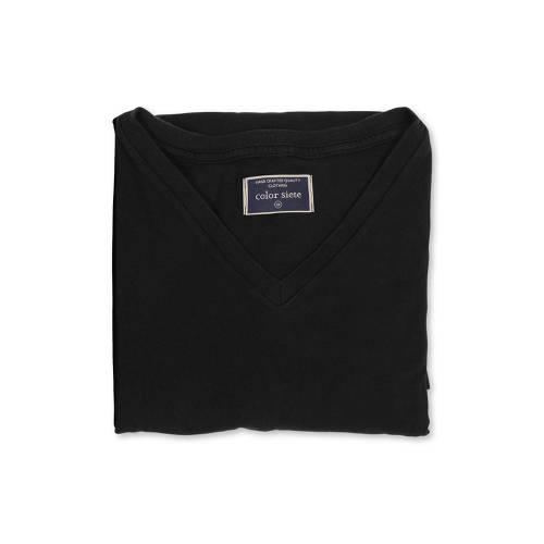 Camiseta Color Siete Para Hombre - Negro