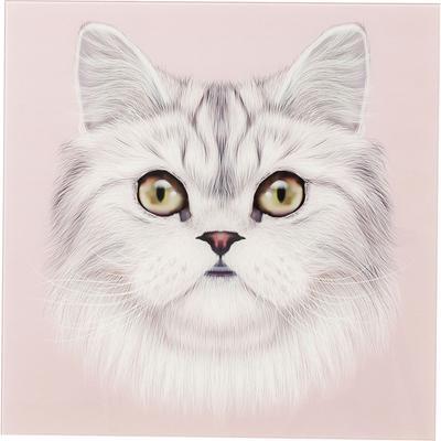 Cuadro Glas Cat Face 60x60cm