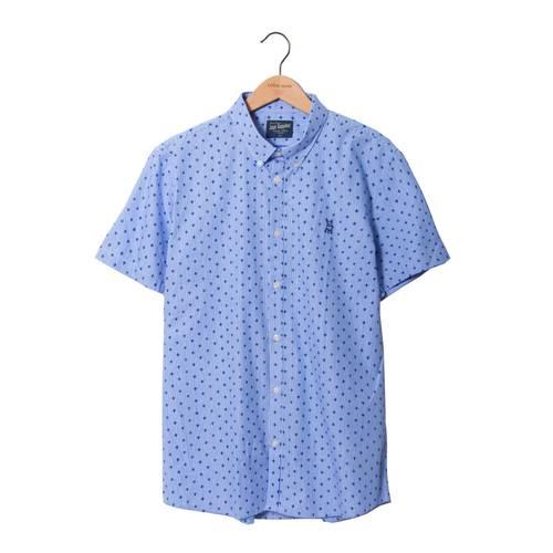Camisa Manga Corta Greenport Jack Supplies Para Hombre - Azul