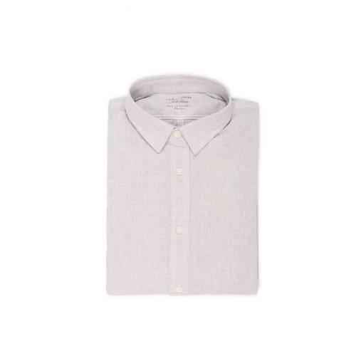 Camisa Manga Larga Wooster Color Siete Para Hombre - Gris