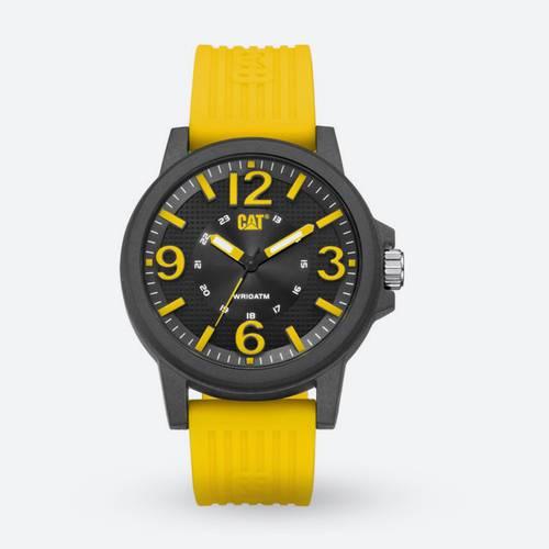 Reloj Hora Negro-Amarillo