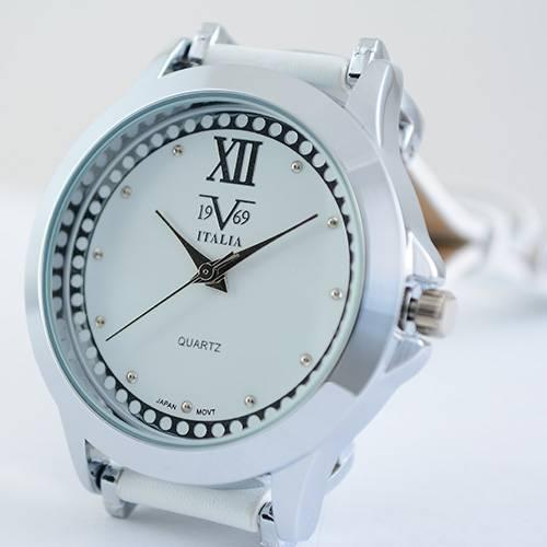 Reloj blanco-plateado-blanco 46-1