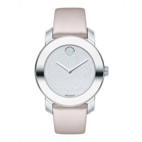 Reloj análogo plateado -rosa 0522