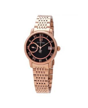 Reloj análogo negro-rosa 0339