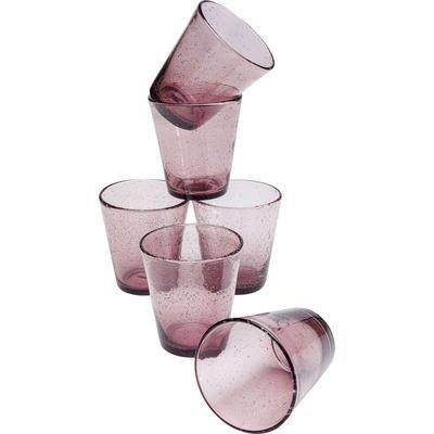 Cristal-Set Bubble Mauve (6/piezas)