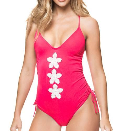 Vestido De Baño Una Pieza - Rojo