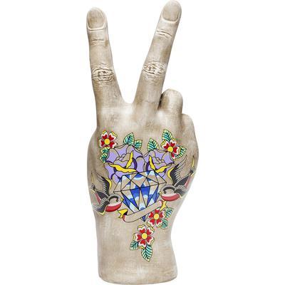 Objeto decorativo Mano Victory Tattoo Flowers 36cm