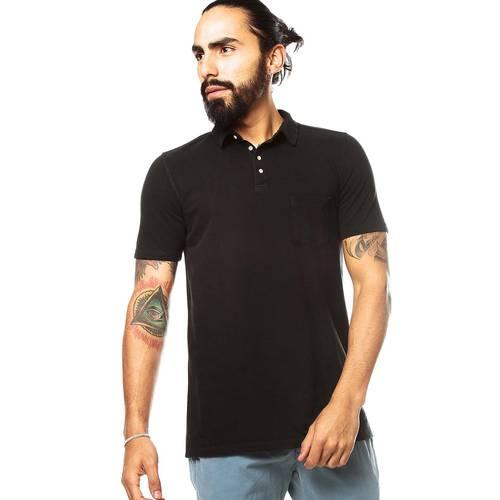 Camiseta Tipo Polo Rosé Pistol para Hombre - Negro