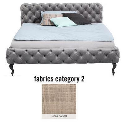 Cama Desire, tela 2 - Linen Natural, (100x217x228cms), 200x200cm (no incluye colchón)