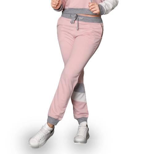 Pantalón Deportivo Paneles Marfil - Rosado Oscuro - Gris