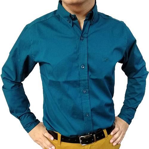 Camisa Manga Larga Turquesa
