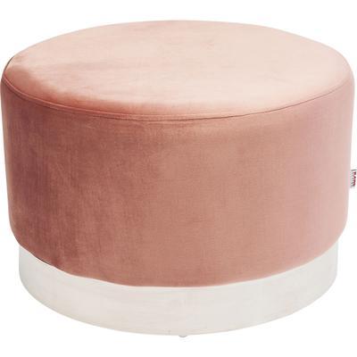 Taburete Cherry rosa plata Ø55cm