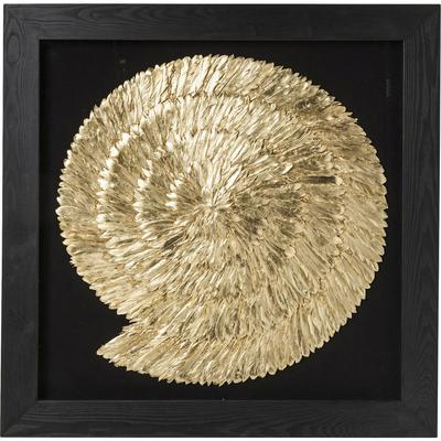 Cuadro dorado Snail 120x120cm