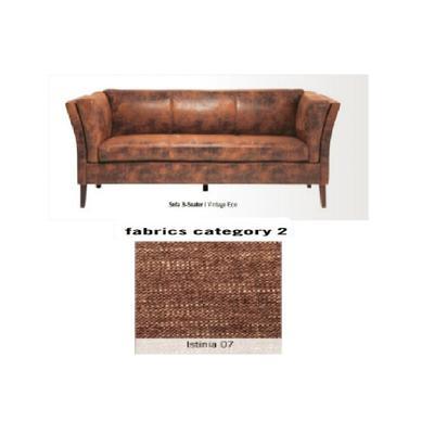 Sofá Canapee, 3 puestos, tela 2 - Istinia 07  (160x73x79cms)