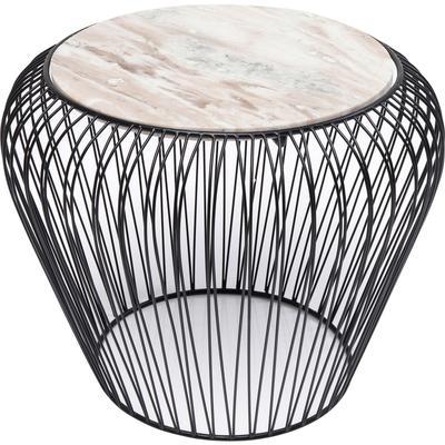Mesa auxiliar Beam marmol gris negro Ø43cm