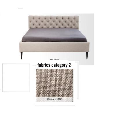 Cama Nova,  tela 2 - Baron 9502,   (85x220x215cms), 180x200cm (no incluye colchón)