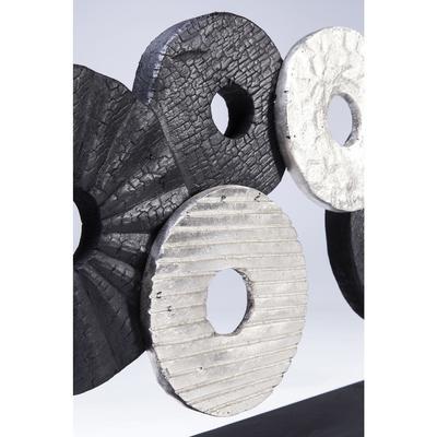 Objeto decorativo Wheels Of Fortune negro