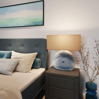 Lámpara mesa Agate azul
