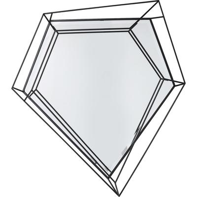 Espejo Wire Diamond negro 104x92cm