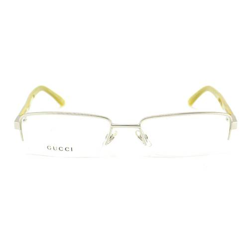 Gafas Oftálmicas Gucci Plata Mate