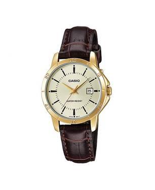 Reloj análogo champaña-marrón L-9A