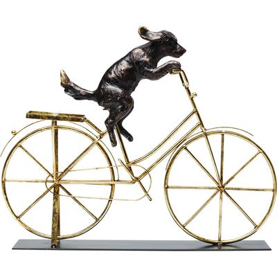 Objeto decorativo Dog With Bicycle